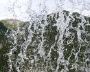 Горный водопад изнутри